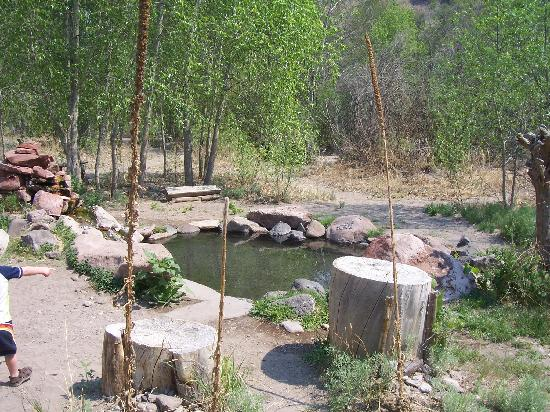 Gila Hot Springs Ranch : One of 3 natural hot springs baths nearby.