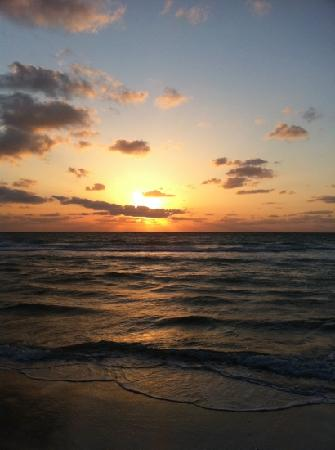 Best Western Atlantic Beach Resort: sunrise from the beach in front of hotel