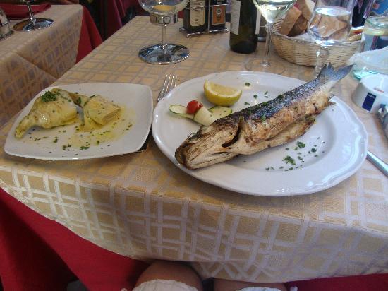 Elettra: Sea bass and artichokes