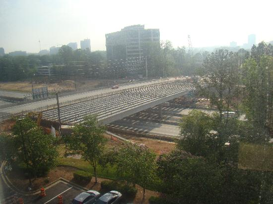 Hampton Inn Atlanta-Perimeter Center: Bridge construction--from my room