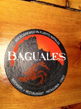 Baguales Brewery + Restaurant: Baguales sign.