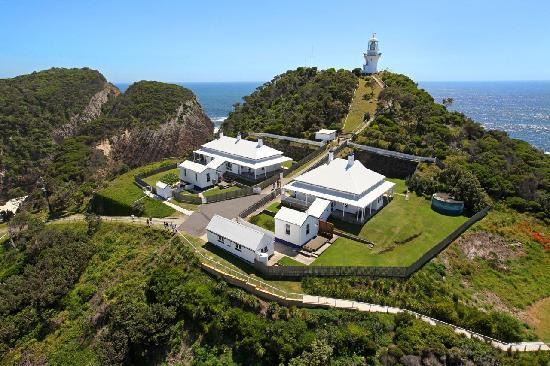 Lighthouse keepers' cottages, Sugarloaf Point, Seal Rocks NSW