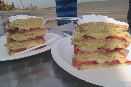 The Sandwich Station: Just one of the splendid homemade cakes on offer