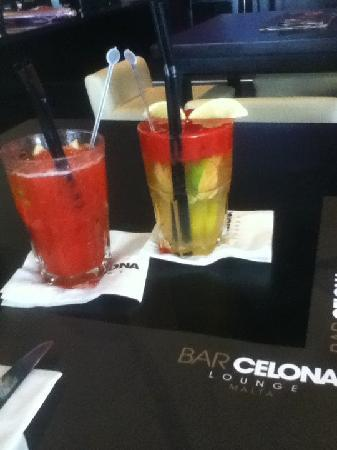 BarCelona Lounge: my delicious drinks