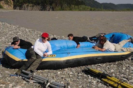 Copper Oar Rafting Day Trip: Deflating the raft