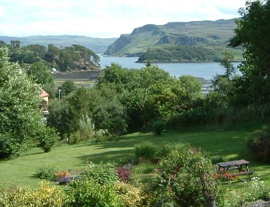 Skye Haven : Enjoy the views over our front garden to Portree Bay, Ben Tianavaig and the Isle of Raasay