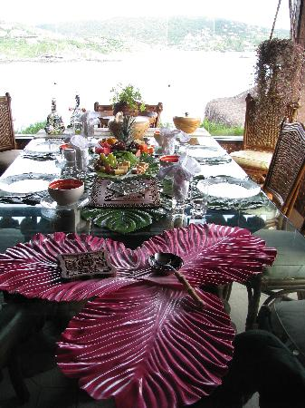 Cachoeira Inn: Breakfast with a view
