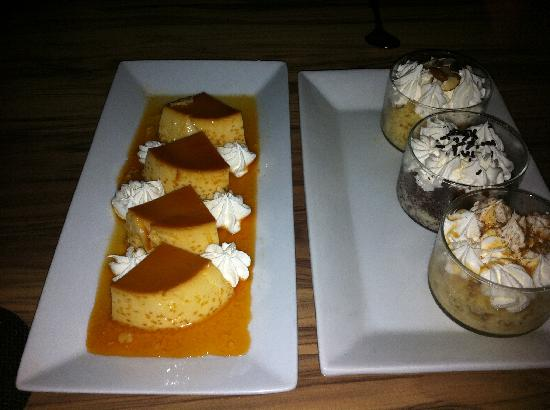 Pasion by Chef Myrta: Dessert (Flan and Tres Leches Sampler)