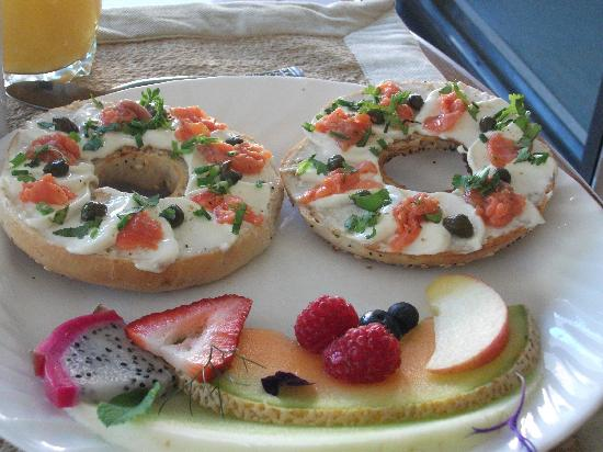 Marketa's Bed and Breakfast: bagel with salmon- great choice!