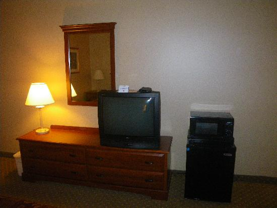 Lebanon Valley Inn & Suites: Clean room with microwave and fridge