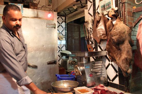 Meknes, Marruecos: boucherie viande de chameau