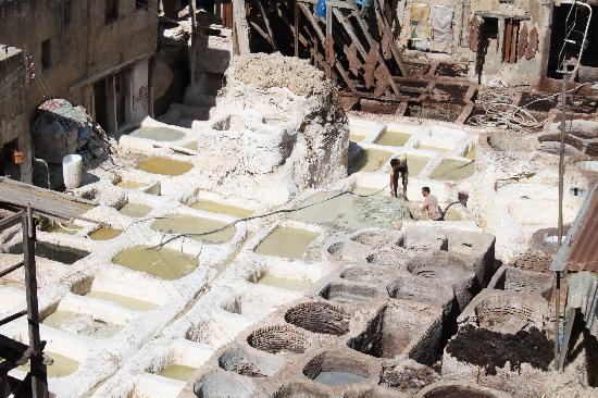 Fez, Marrocos: quartier des tanneurs