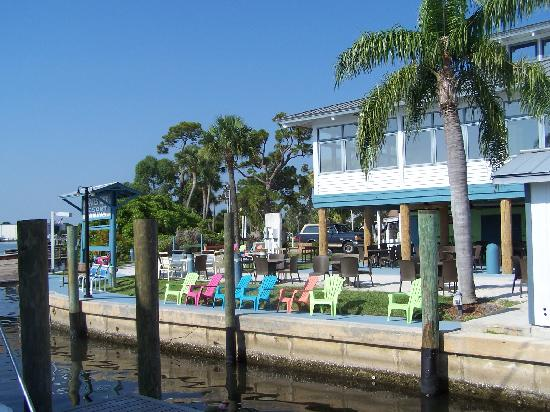 Pirate's Cove Resort and Marina: the new Tiki bar area, lots of fun