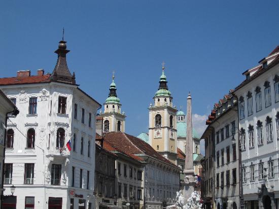 Λουμπλιάνα, Σλοβενία: centre piétonnier