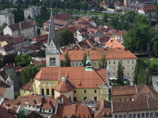 Λουμπλιάνα, Σλοβενία: vue du chateau