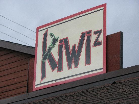 Kiwi's Takeaway: the sign  above Kiwi's