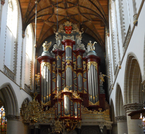 Haarlem, Hollanda: Organ pipes