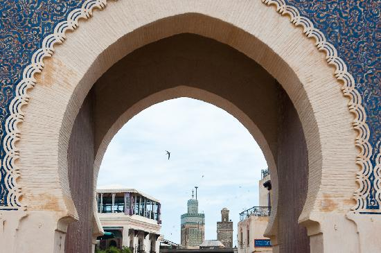 Fez, Marruecos: Bab Boujloud (blue gate)