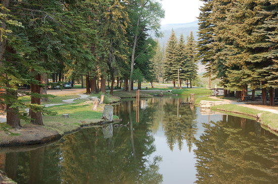 South Fork, CO: River near dining hall