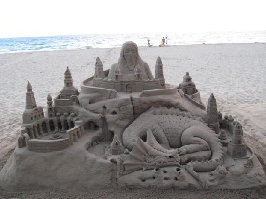 Prestige Victoria : fait avec du sable sur la plage