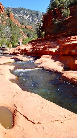 Slide Rock State Park : Scenic view of water slide