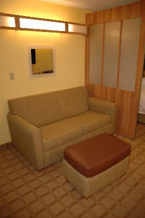 Microtel Inn & Suites by Wyndham York: pull out sleeper sofa