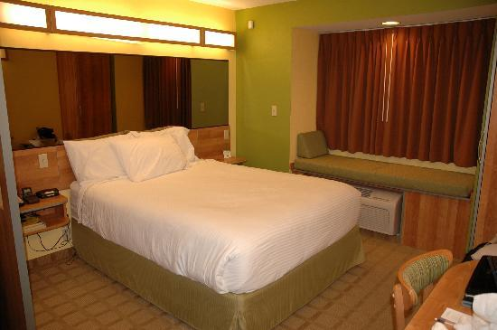 Microtel Inn & Suites by Wyndham York: queen bed and padded window bench