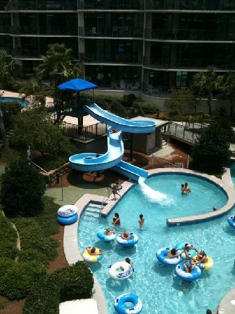 Phoenix on the Bay: view of the water slide