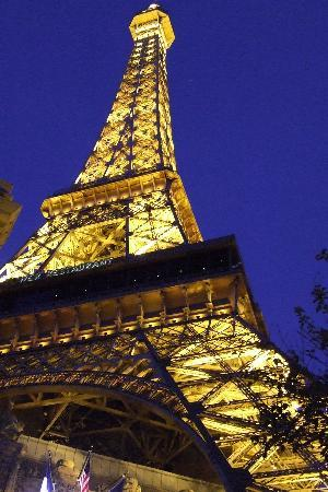 Las Vegas, NV: The tower outside hotel Paris.