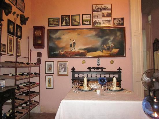 """San Cristobal Paladar: unser """"Esszimmer"""" vormals Kinderzimmer"""