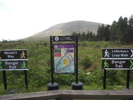 Letterkeen Loop Walk: A trail head in Letterkeen
