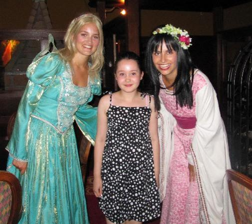 Katie and the Efteling princesses