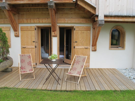 Relais & Chateaux Flocons de Sel: terrasse