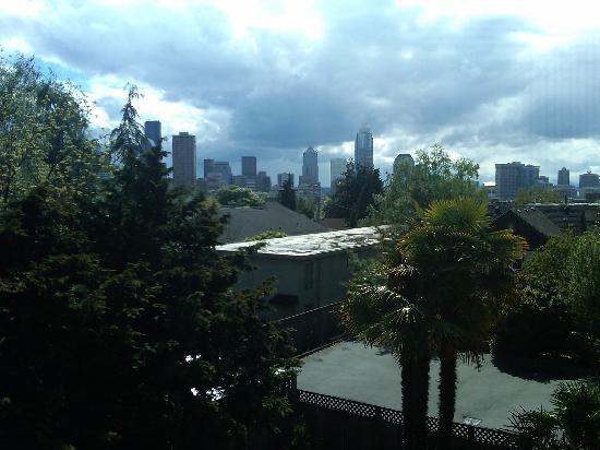 Gaslight Inn: View of city from balcony