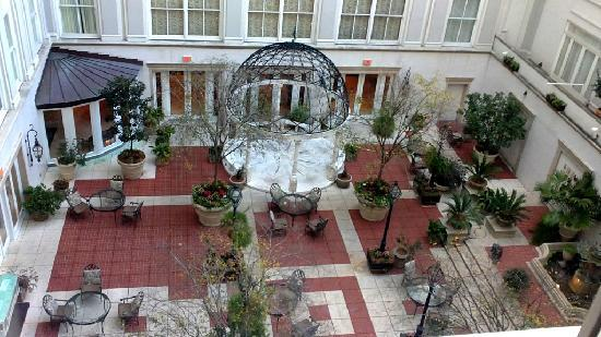 The Ritz-Carlton, New Orleans: A picture of the atrium from our room.