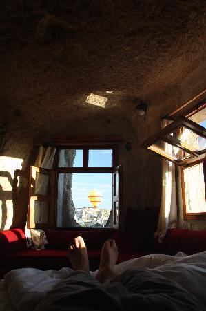 Koza Cave Hotel: waking up at Koza