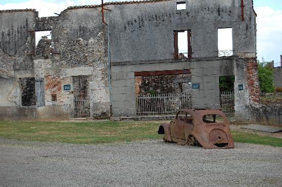 Oradour-sur-Glane, France : charred reminders of WWII