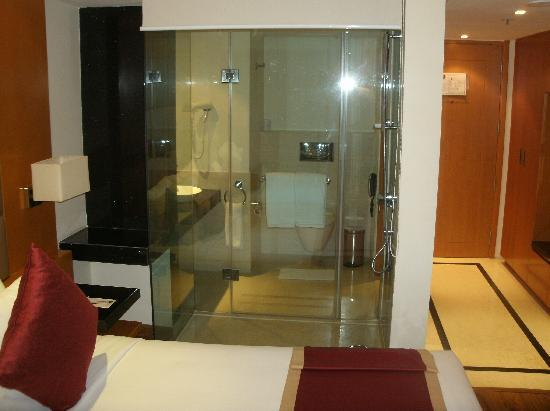 Lemon Tree Hotel Whitefield: Glass Shower