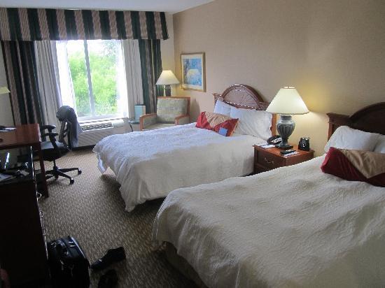 Room Inside Hotel 2 Queen Picture Of Hilton Garden Inn Charlotte Pineville Pineville