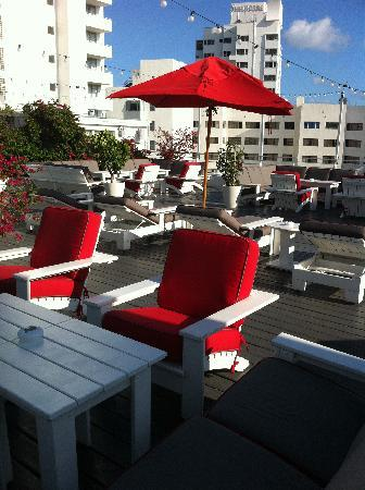 Townhouse Hotel: The beautiful roof terrace