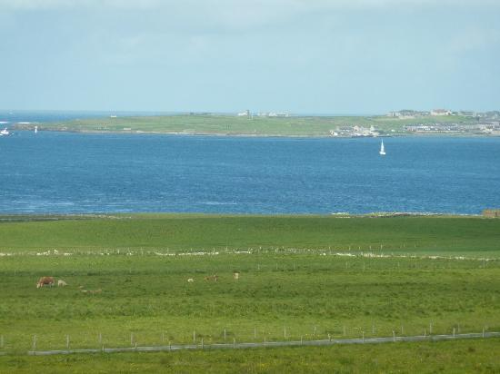 View from Coubister Rooms to Stromness