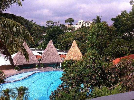 Sheraton Presidente San Salvador: View from a room overlooking the pool.