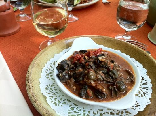 Lourmarin, Frankrike: cassoulet of escargot