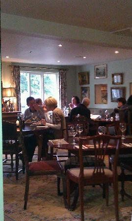 The French Horn Pub: Dining Room (taken from one of raised booths at back that we were sat in)