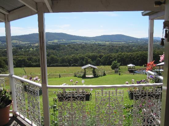 Deloraine Homestead: view from porch