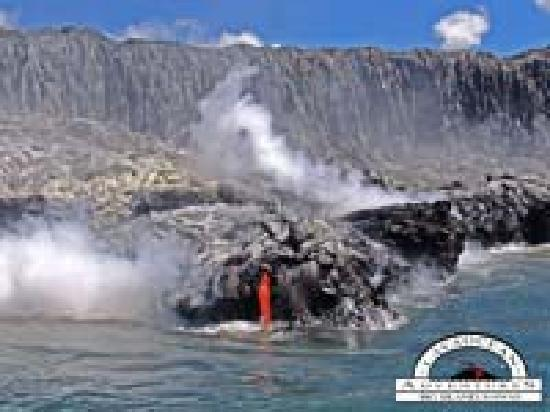 Lava Ocean Tours Inc : The balance of the earth exposed on a Hawaii Lava Ocean Boat Tour