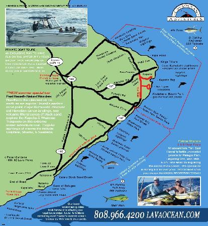 Hawaii Map Lava.Lava Ocean Adventures Puna Map Picture Of Lava Ocean Tours Inc