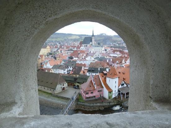 Penzion Krumlov: Cesky Krumlov from the castle