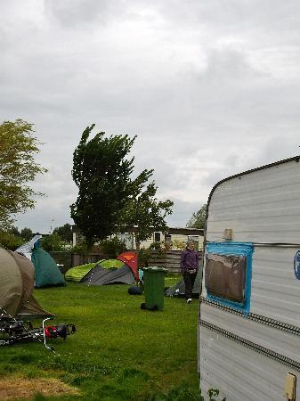 Camping de Badhoeve: windiger Morgen