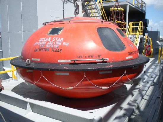 Ocean Star Offshore Drilling Rig & Museum: the rig's version of a lifeboat